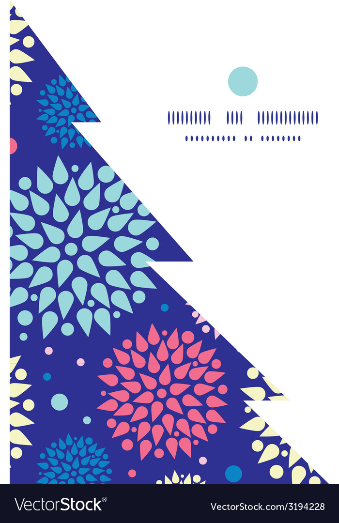 Colorful bursts christmas tree silhouette pattern vector | Price: 1 Credit (USD $1)
