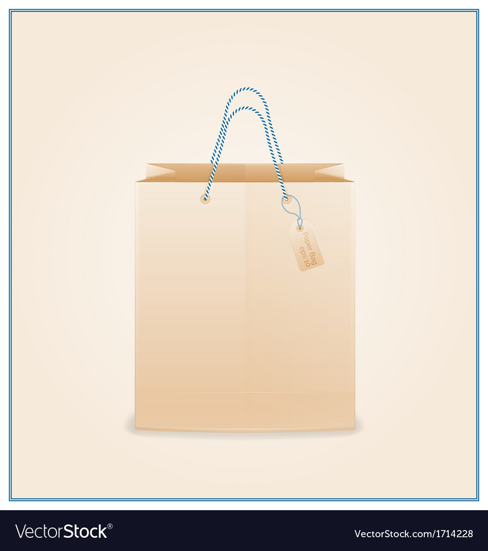Craft paper shopping bag vector | Price: 1 Credit (USD $1)