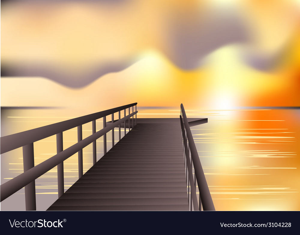 Jetty sunrise vector