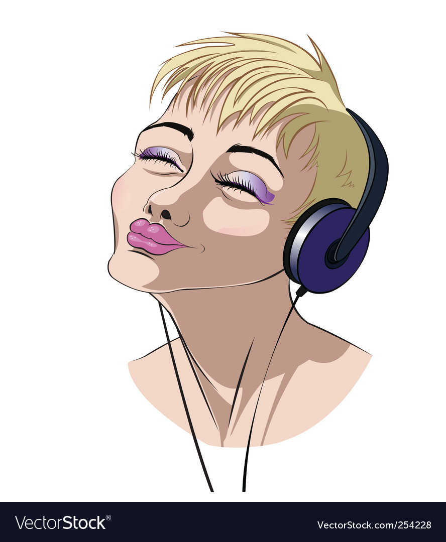 Music girl vector | Price: 1 Credit (USD $1)