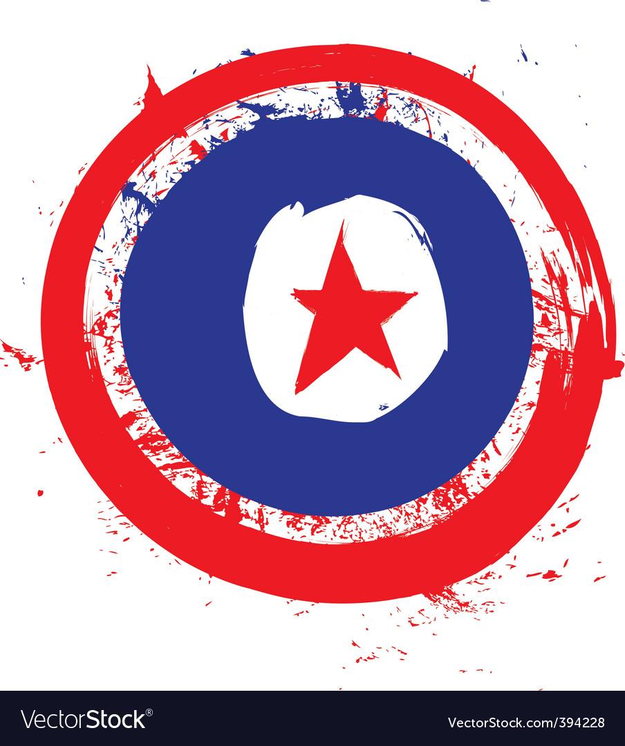 North korea circle flag vector | Price: 1 Credit (USD $1)