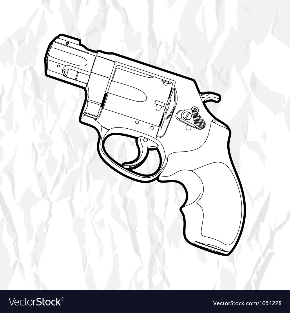 Revolver gun vector | Price: 1 Credit (USD $1)