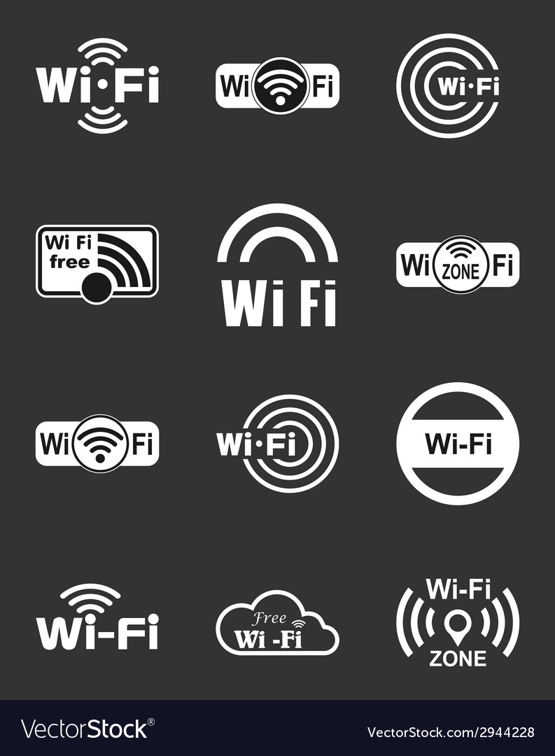 Set of twelve wifi icons vector | Price: 1 Credit (USD $1)