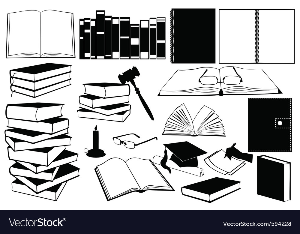 Study books vector | Price: 1 Credit (USD $1)