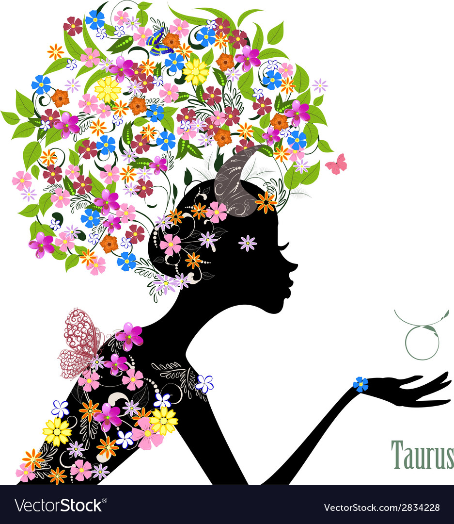 Zodiac sign taurus fashion girl vector | Price: 1 Credit (USD $1)