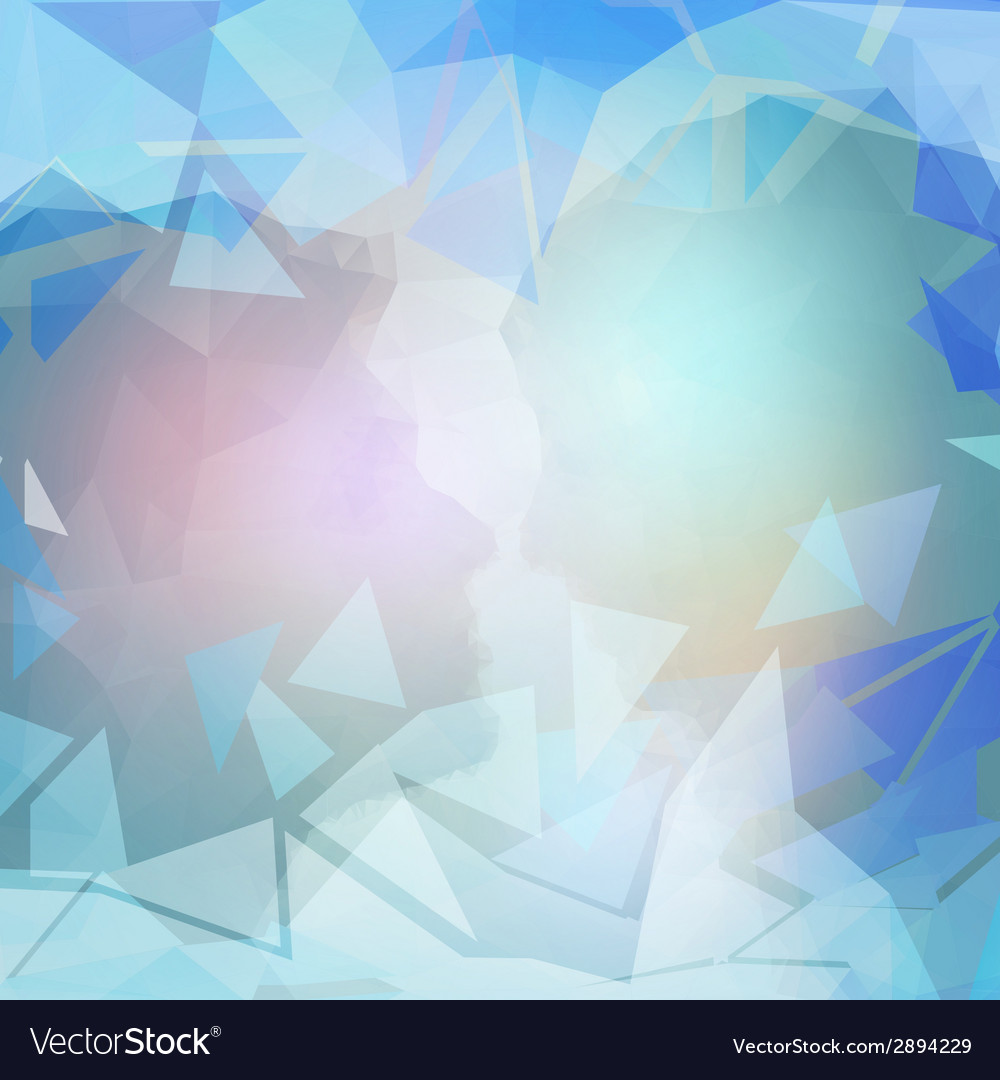 Abstract blue background triangle design vector | Price: 1 Credit (USD $1)