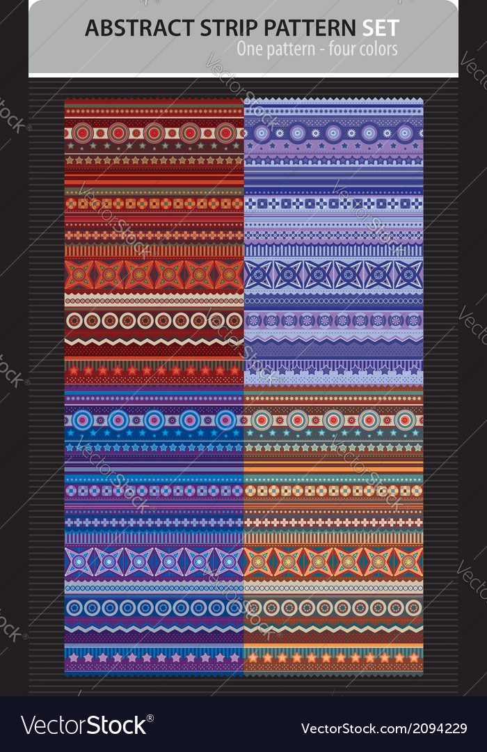 Abstract strip pattern set vector | Price: 1 Credit (USD $1)