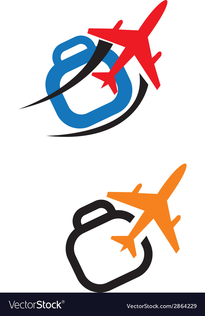 Airplane travel logo vector | Price: 1 Credit (USD $1)