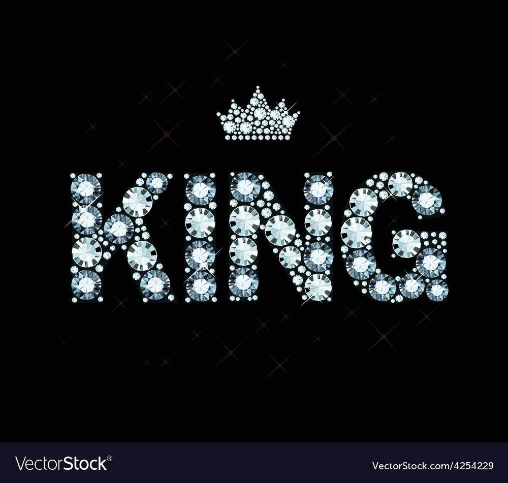 Diamond word king vector | Price: 1 Credit (USD $1)