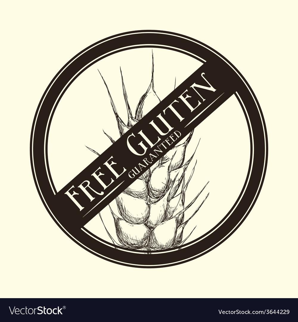 Gluten free vector | Price: 1 Credit (USD $1)