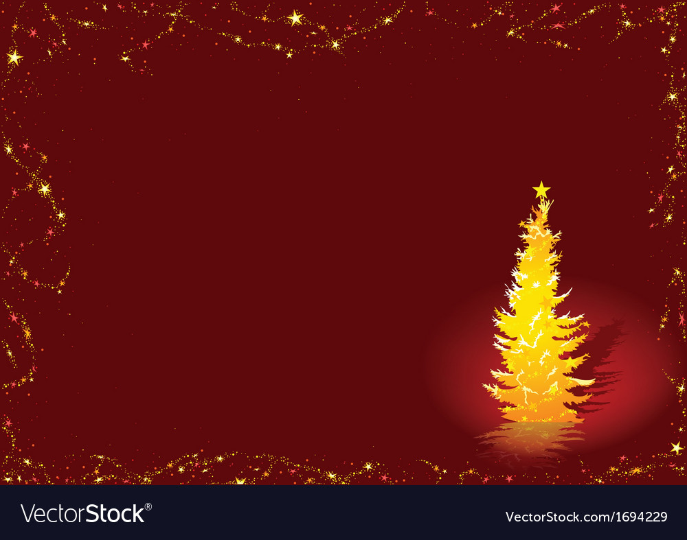 Golden christmas tree vector | Price: 1 Credit (USD $1)