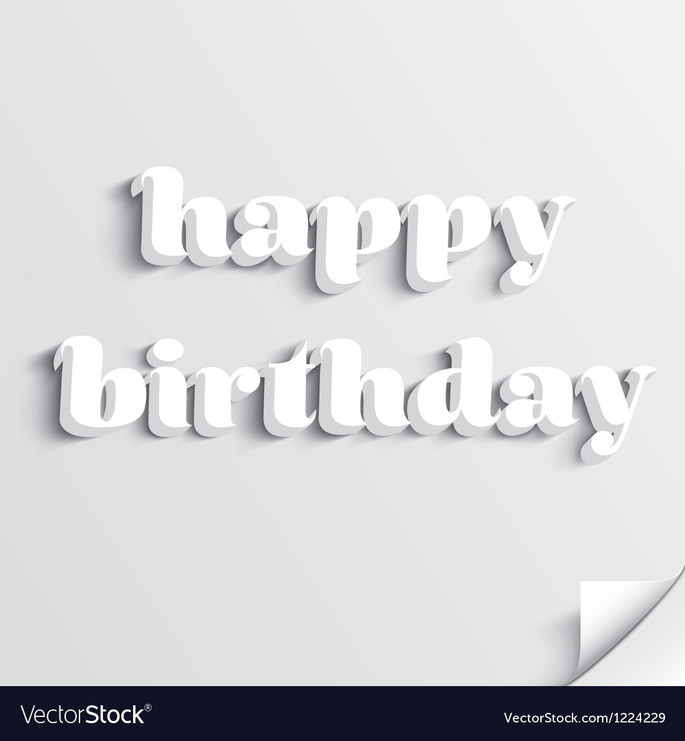 Happy birthday card design vector | Price: 1 Credit (USD $1)