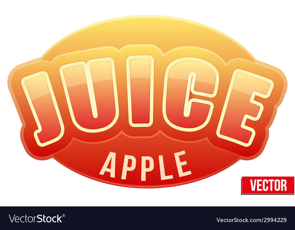 Label for apple juice bright premium design vector | Price: 1 Credit (USD $1)
