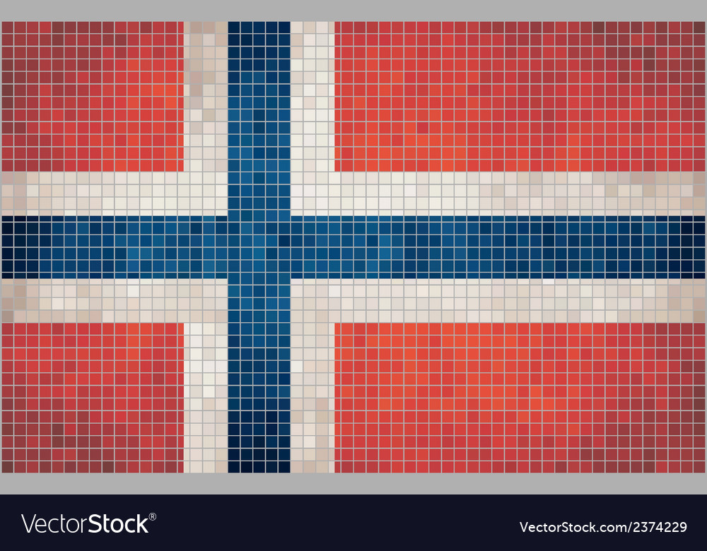 Mosaic flag of norway vector | Price: 1 Credit (USD $1)