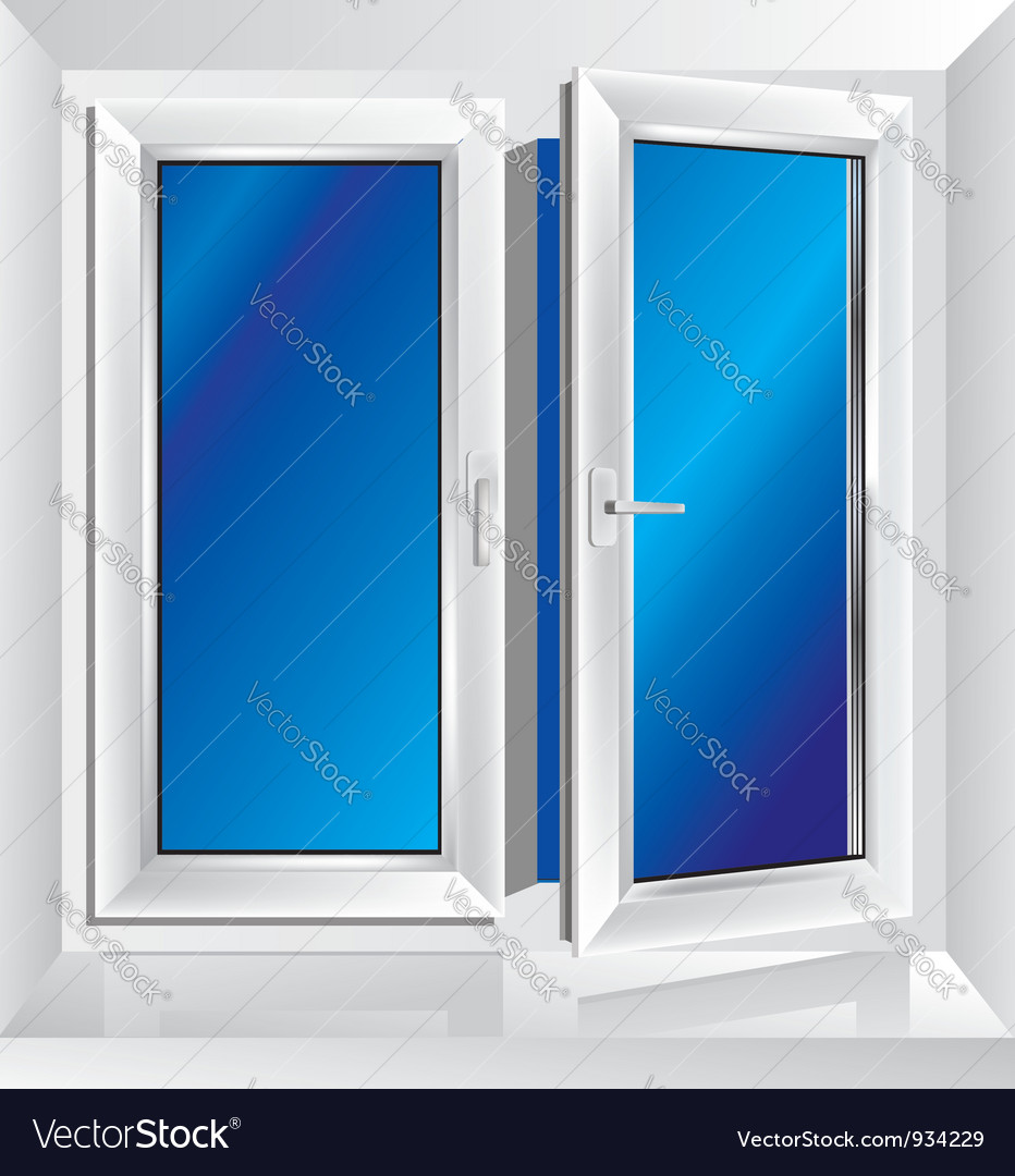 Plastic window ajar vector | Price: 1 Credit (USD $1)