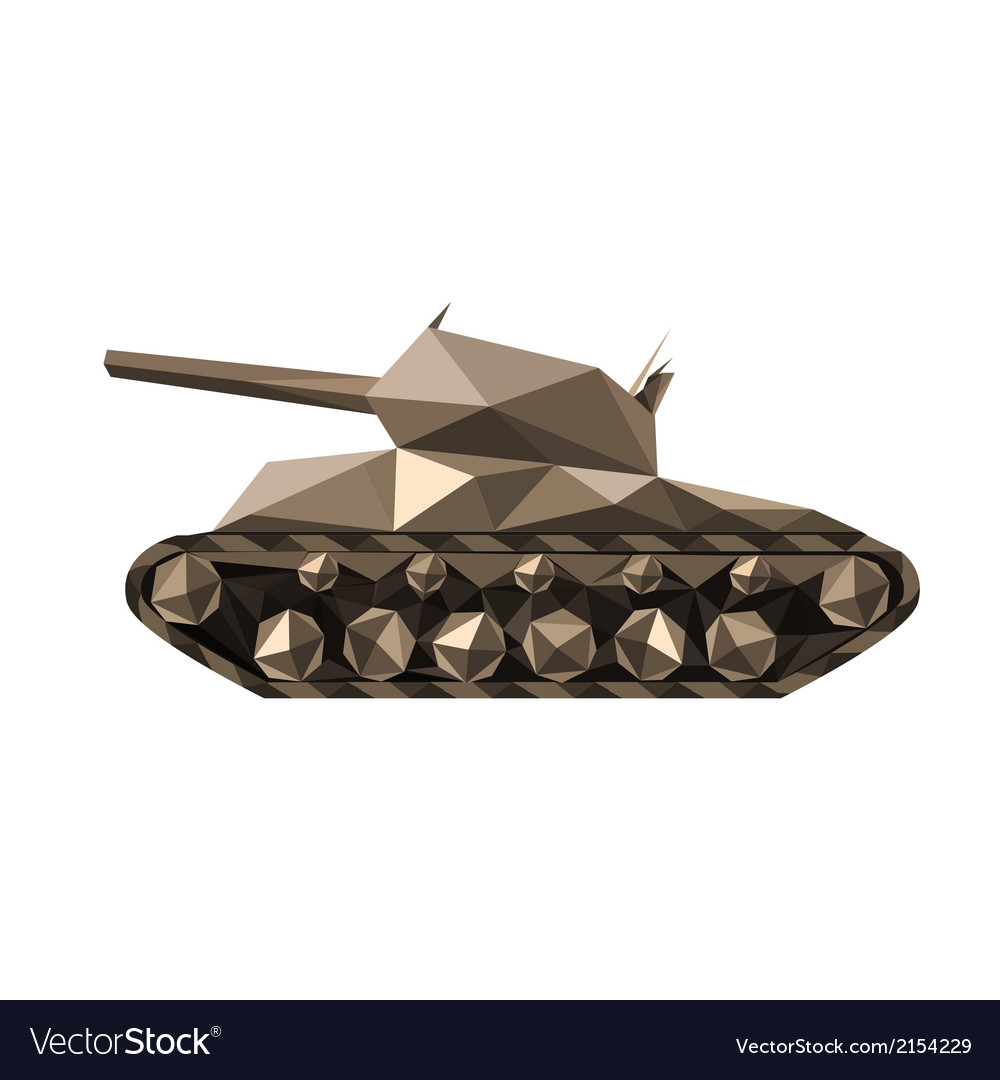 Polygonal tank vector | Price: 1 Credit (USD $1)