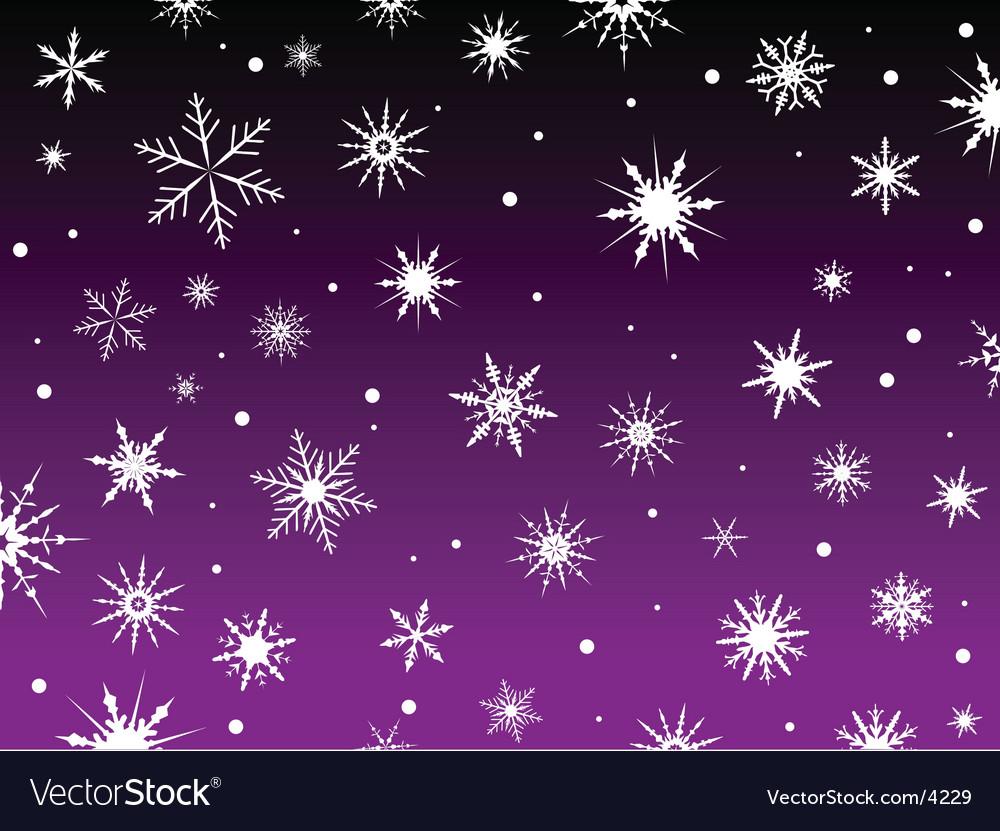 Purple snowflakes vector | Price: 1 Credit (USD $1)