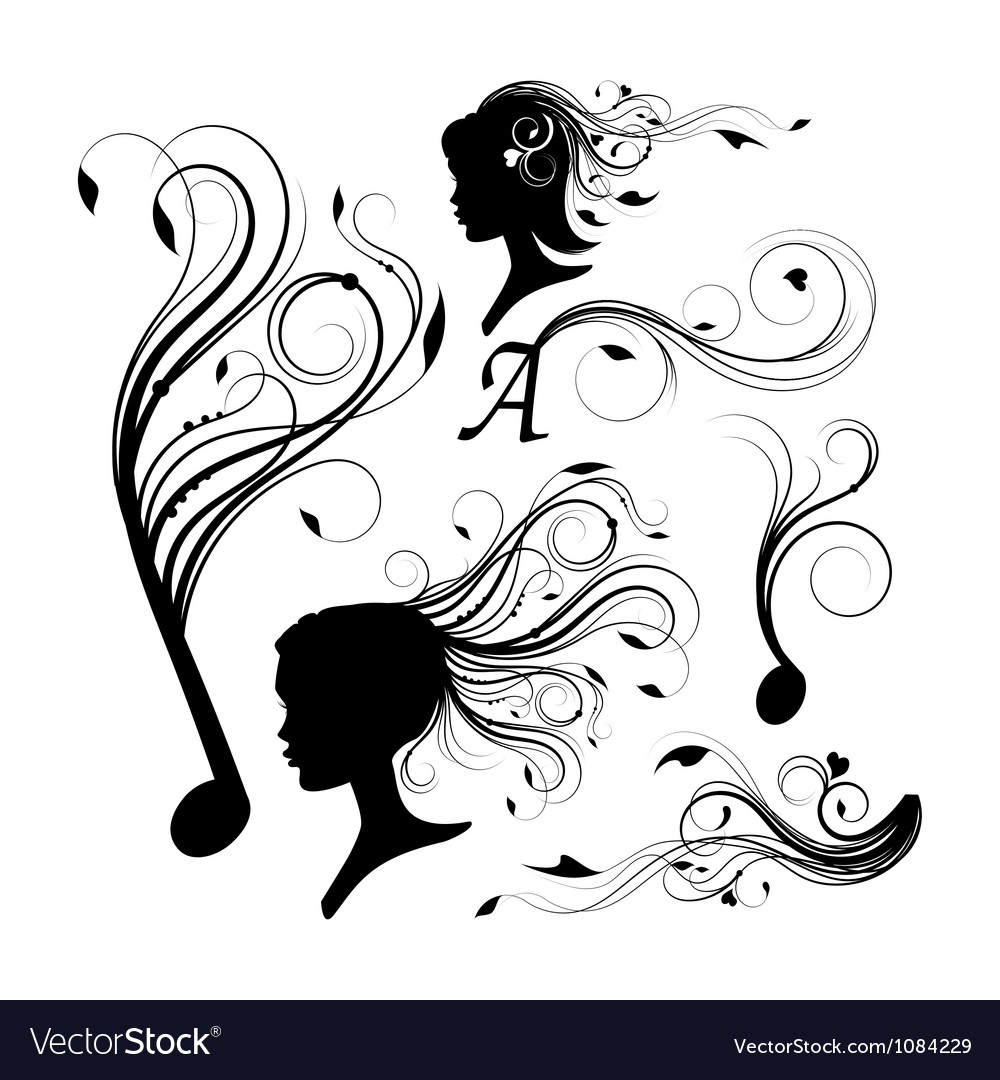 Set of curly design elements vector | Price: 1 Credit (USD $1)