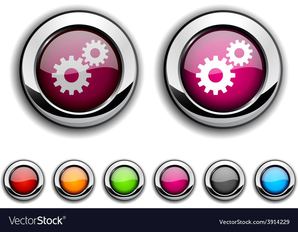 Settings button vector   Price: 1 Credit (USD $1)