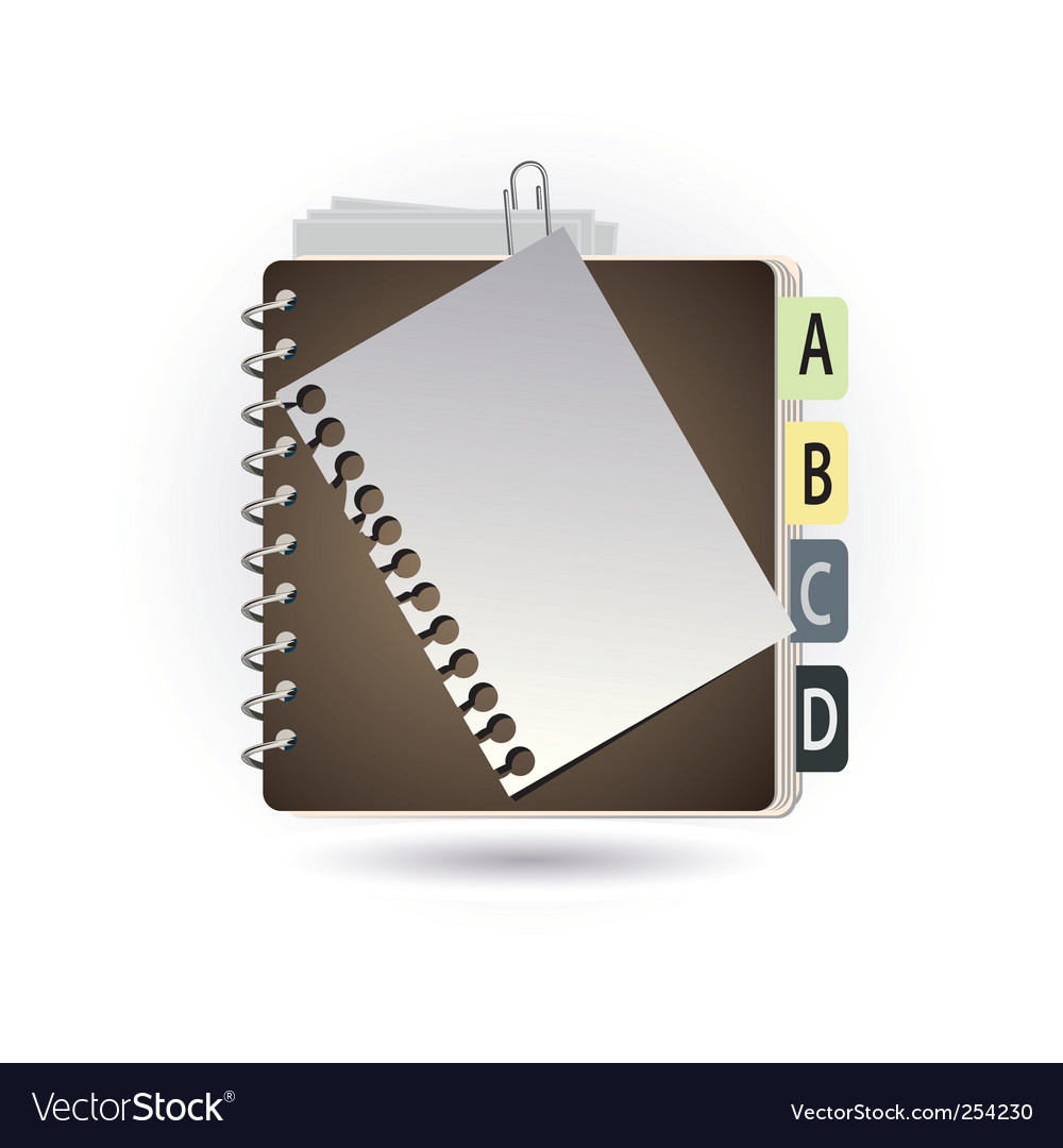 Addressbook vector | Price: 1 Credit (USD $1)