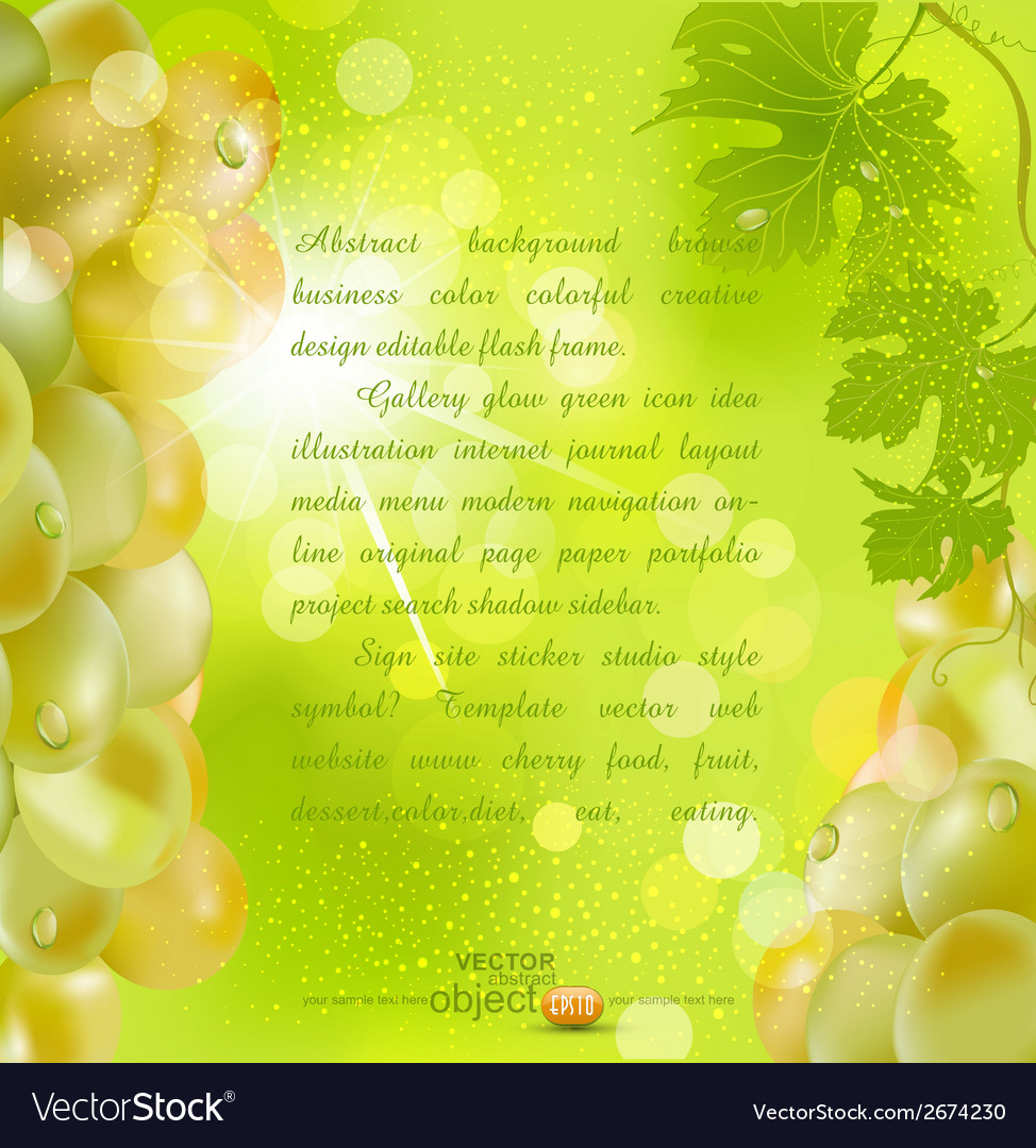 Background with grapes vector | Price: 1 Credit (USD $1)