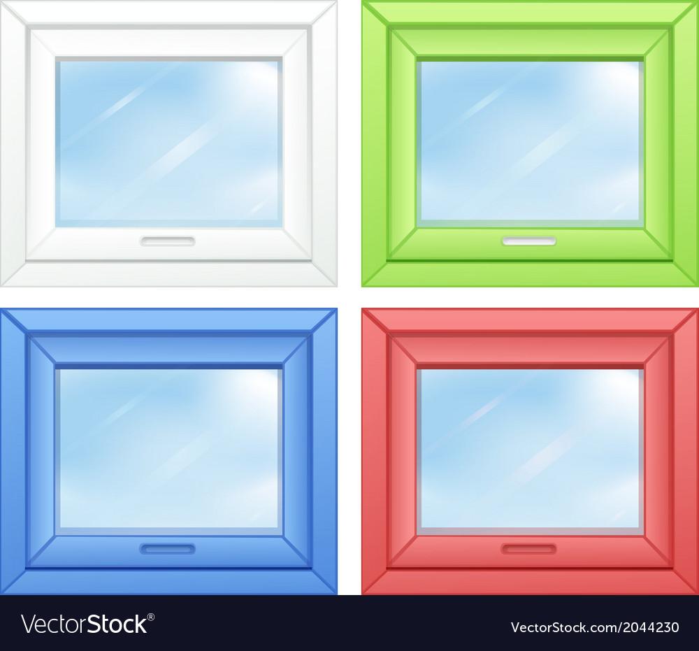 Door windows vector | Price: 1 Credit (USD $1)