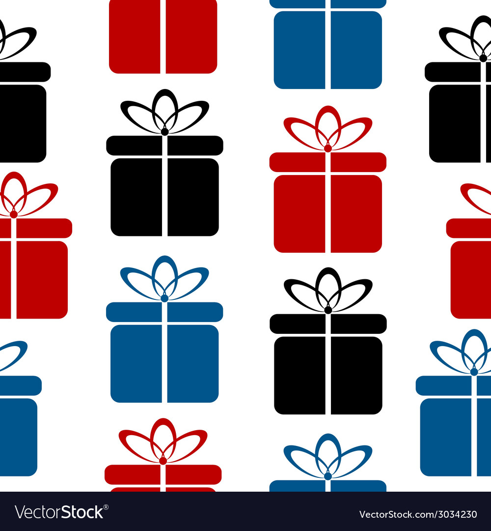 Gift icon seamless pattern vector | Price: 1 Credit (USD $1)
