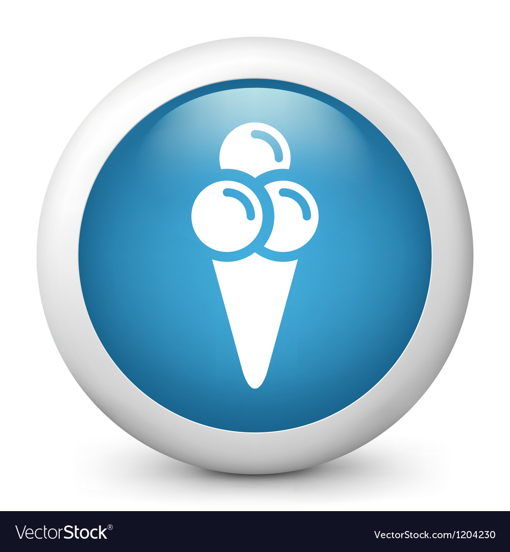 Ice cream glossy icon vector | Price: 1 Credit (USD $1)
