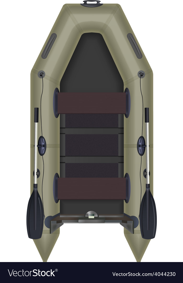 Inflatable boat top view vector | Price: 1 Credit (USD $1)
