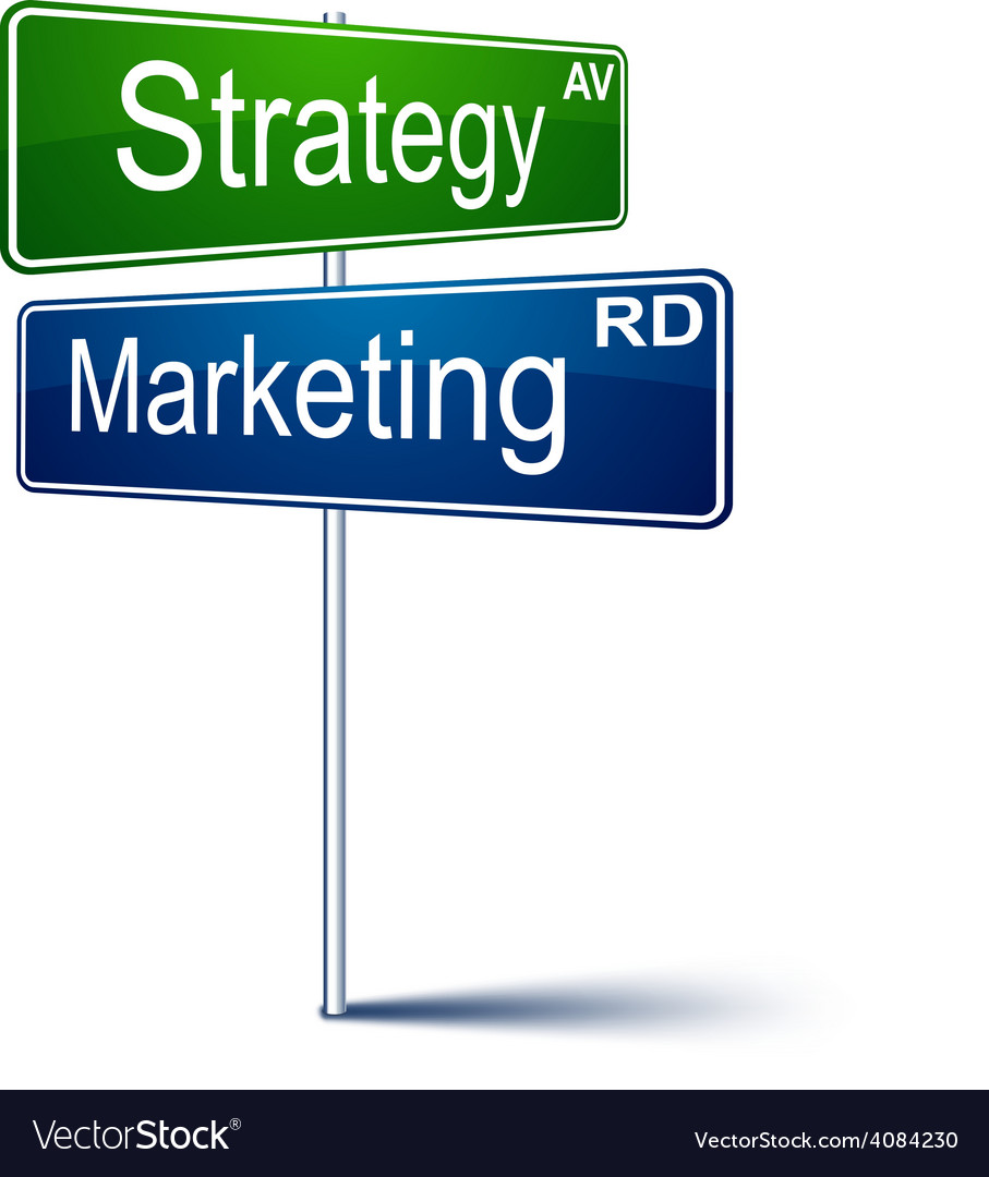 Marketing-strategy direction sign vector   Price: 1 Credit (USD $1)