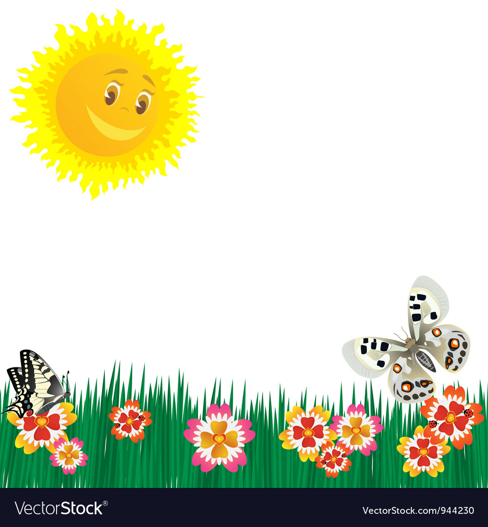 Meadow flowers vector | Price: 1 Credit (USD $1)