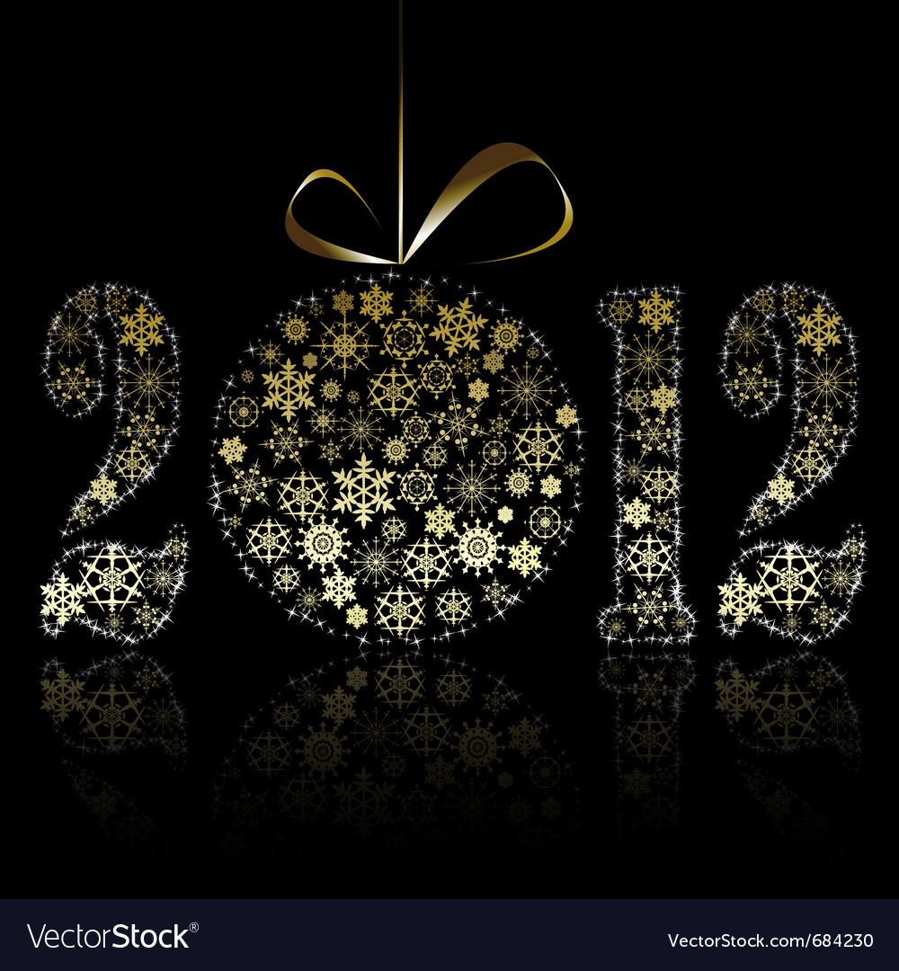 New year 2012 symbol vector | Price: 1 Credit (USD $1)