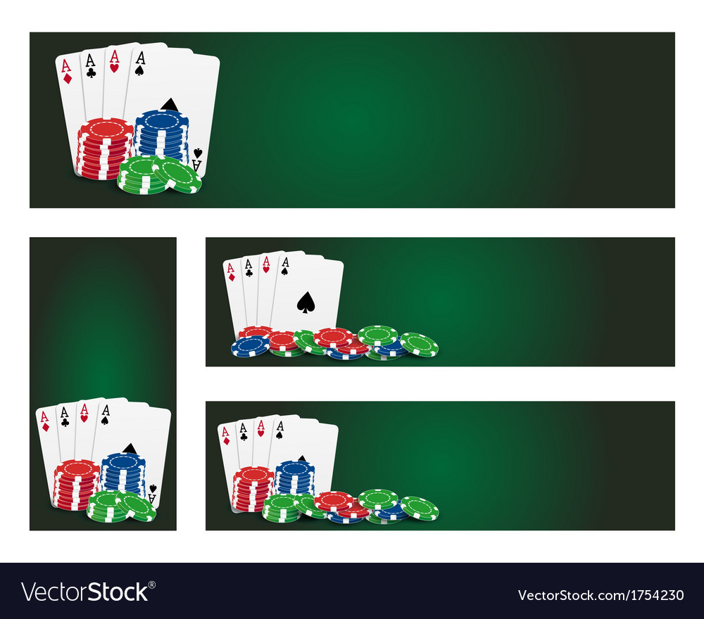 Poker banners vector | Price: 1 Credit (USD $1)