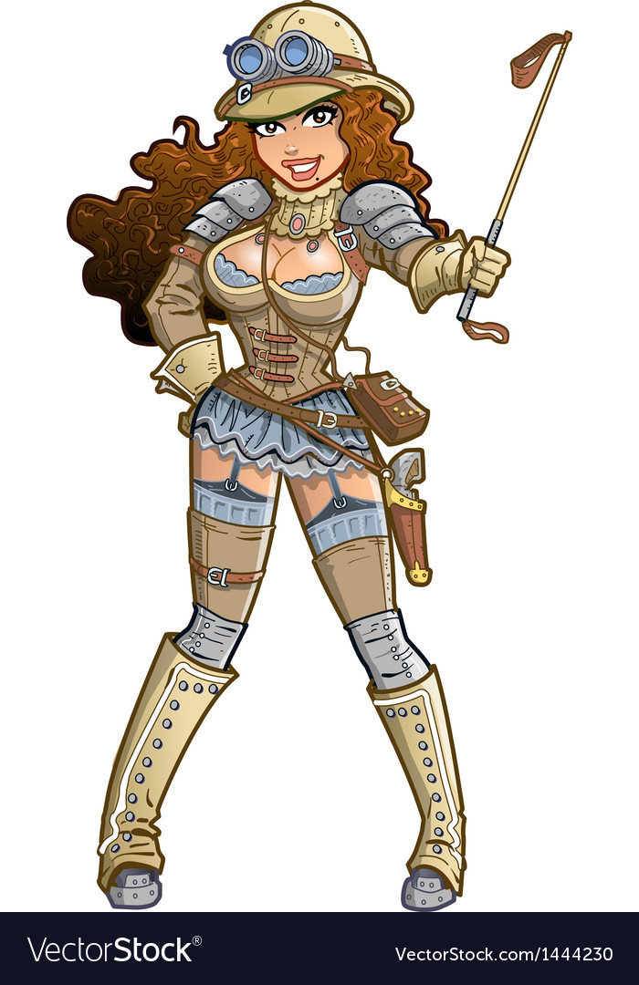 Sexy steampunk explorer vector | Price: 3 Credit (USD $3)