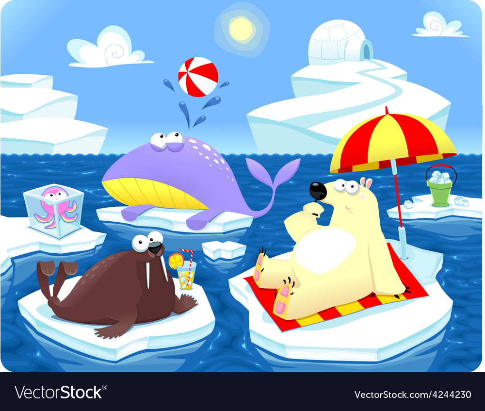 Summer or winter at the north pole vector | Price: 3 Credit (USD $3)