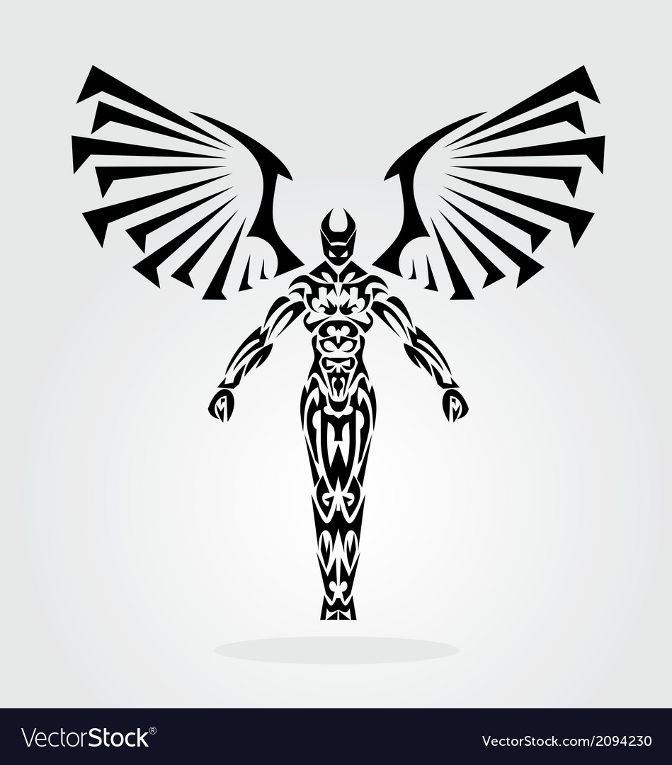 Tribal angel vector | Price: 1 Credit (USD $1)