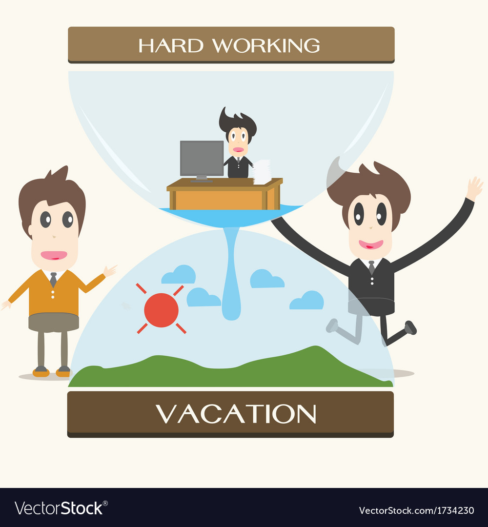 Vacation businessman vector | Price: 1 Credit (USD $1)