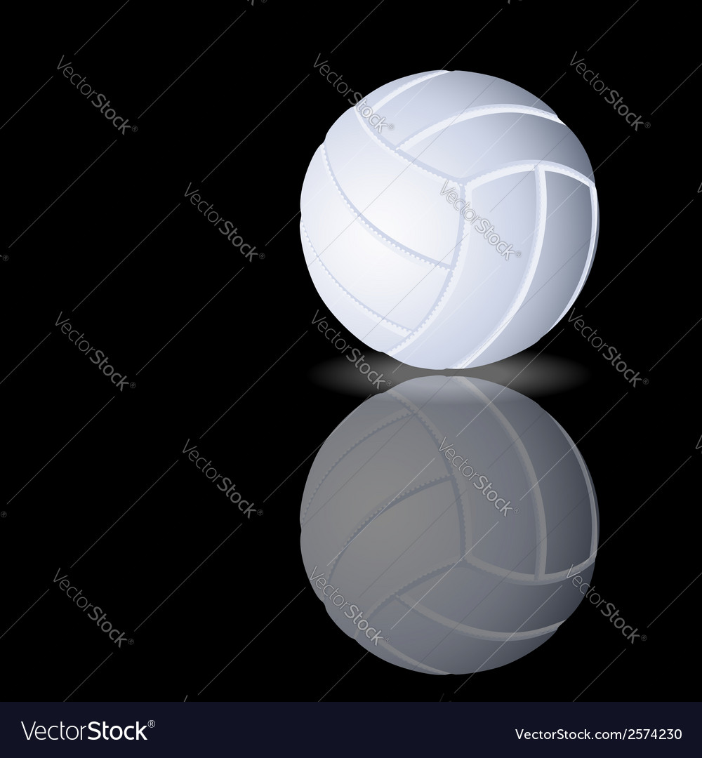 Volleyball on a smooth surface vector | Price: 1 Credit (USD $1)