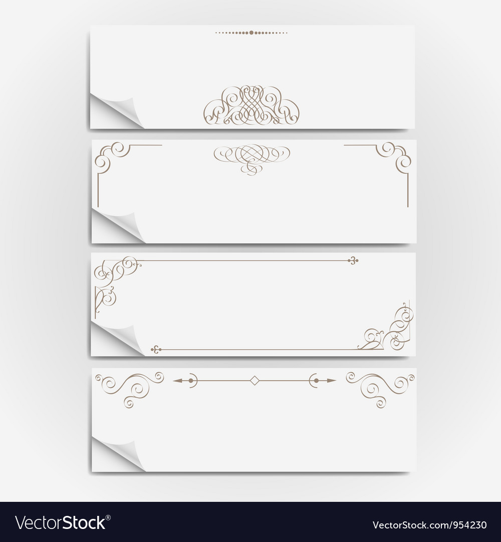 White paper banners vector | Price: 1 Credit (USD $1)