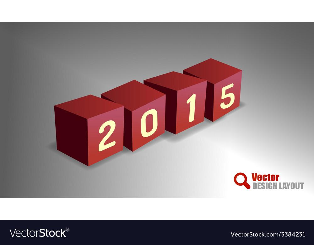 2015 cubes vector | Price: 1 Credit (USD $1)