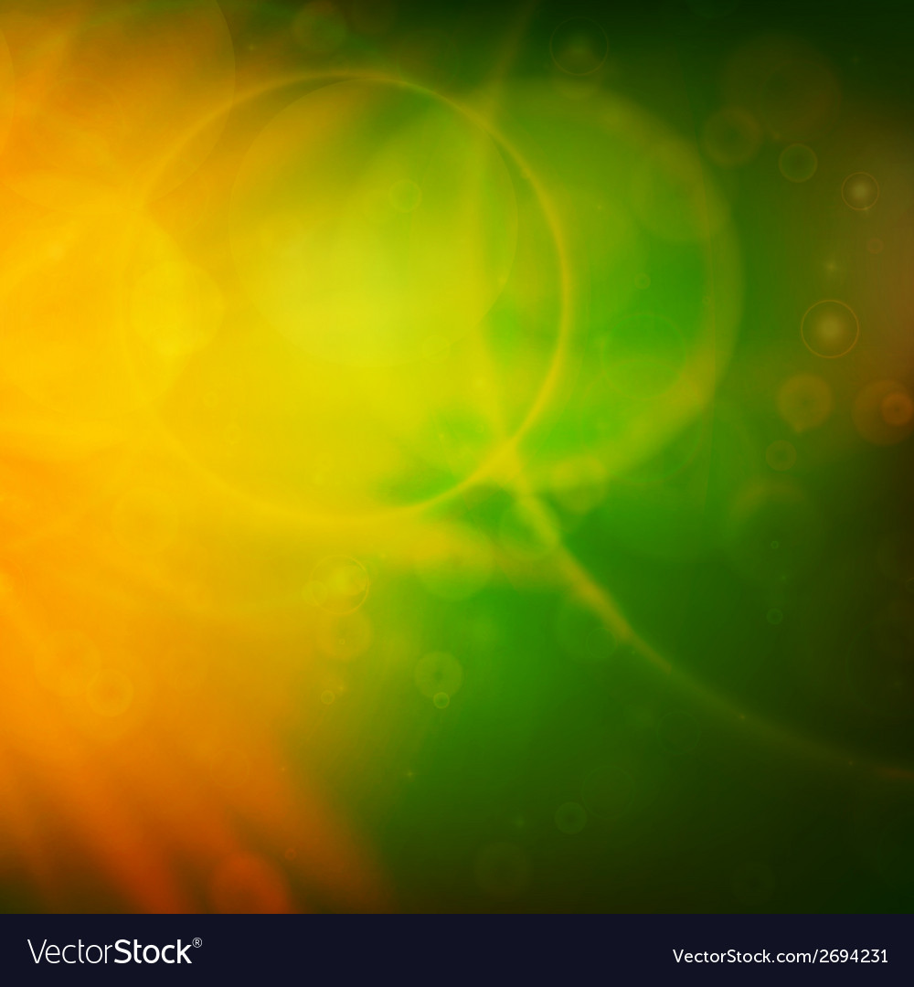 Abstract sunset on sky with lenses flare vector | Price: 1 Credit (USD $1)