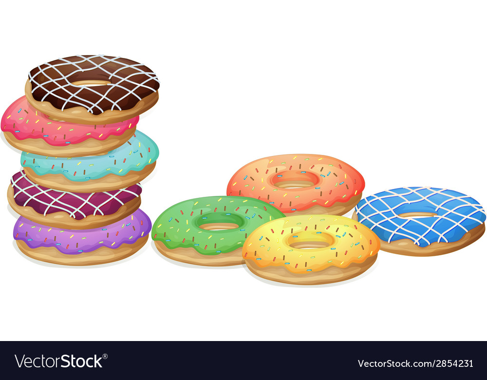 Doughnuts vector | Price: 1 Credit (USD $1)