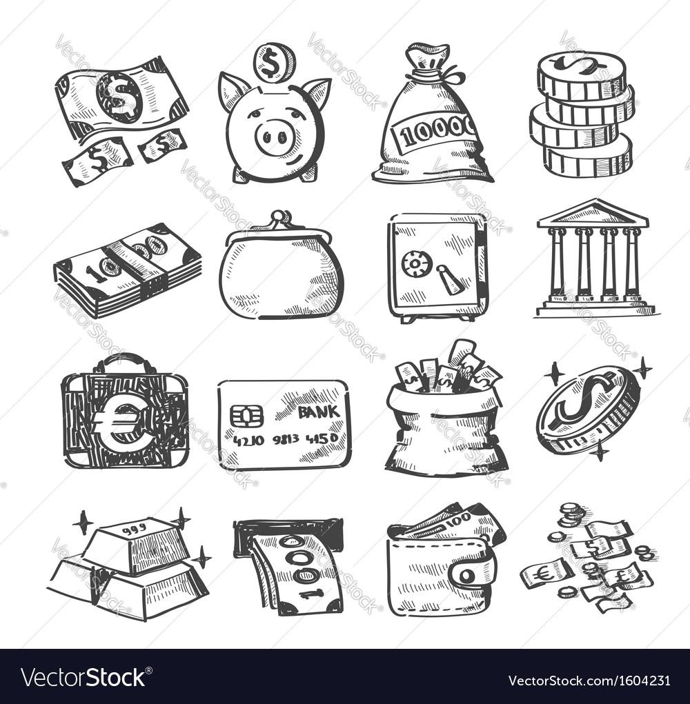Hand draw money vector | Price: 1 Credit (USD $1)