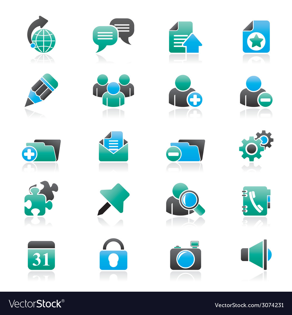 Internet blogging icons vector | Price: 1 Credit (USD $1)