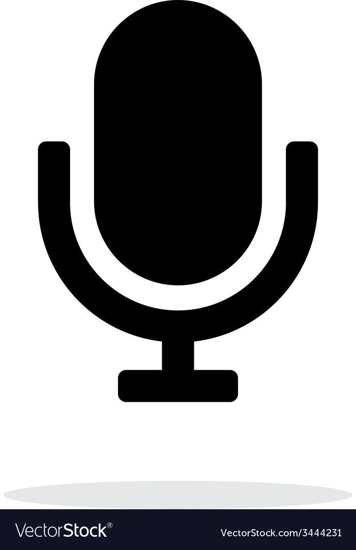 Retro microphone icon on white background vector | Price: 1 Credit (USD $1)