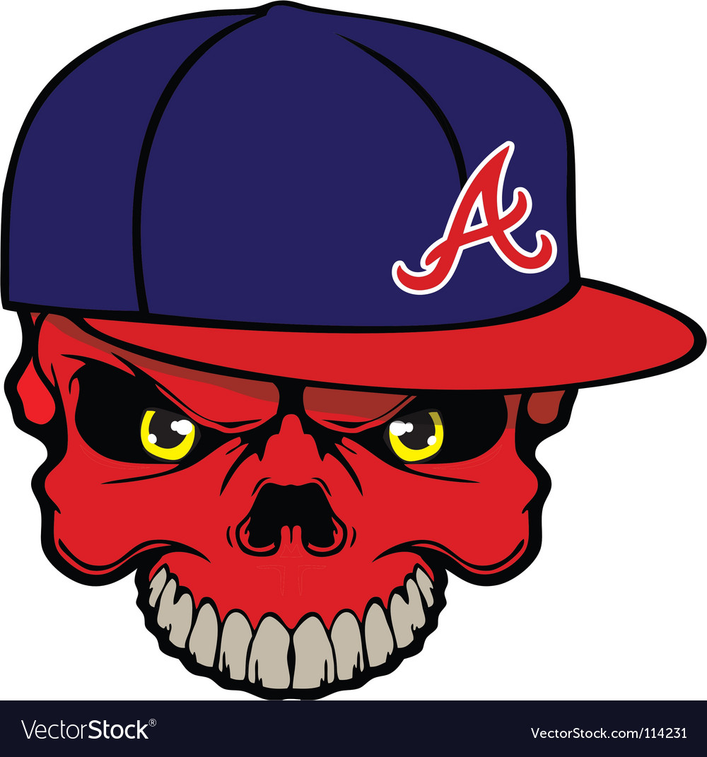 Skull baseball cap vector | Price: 1 Credit (USD $1)