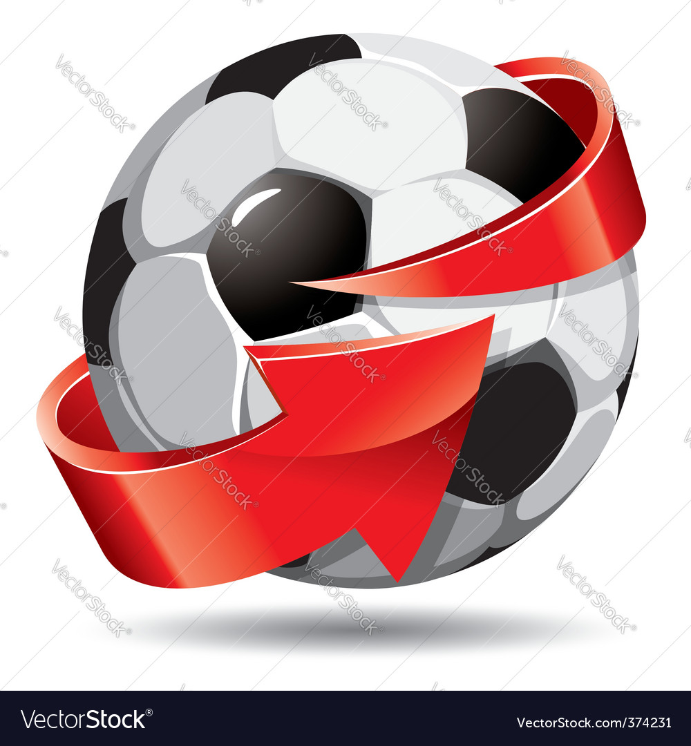 Soccer ball and arrow vector | Price: 1 Credit (USD $1)