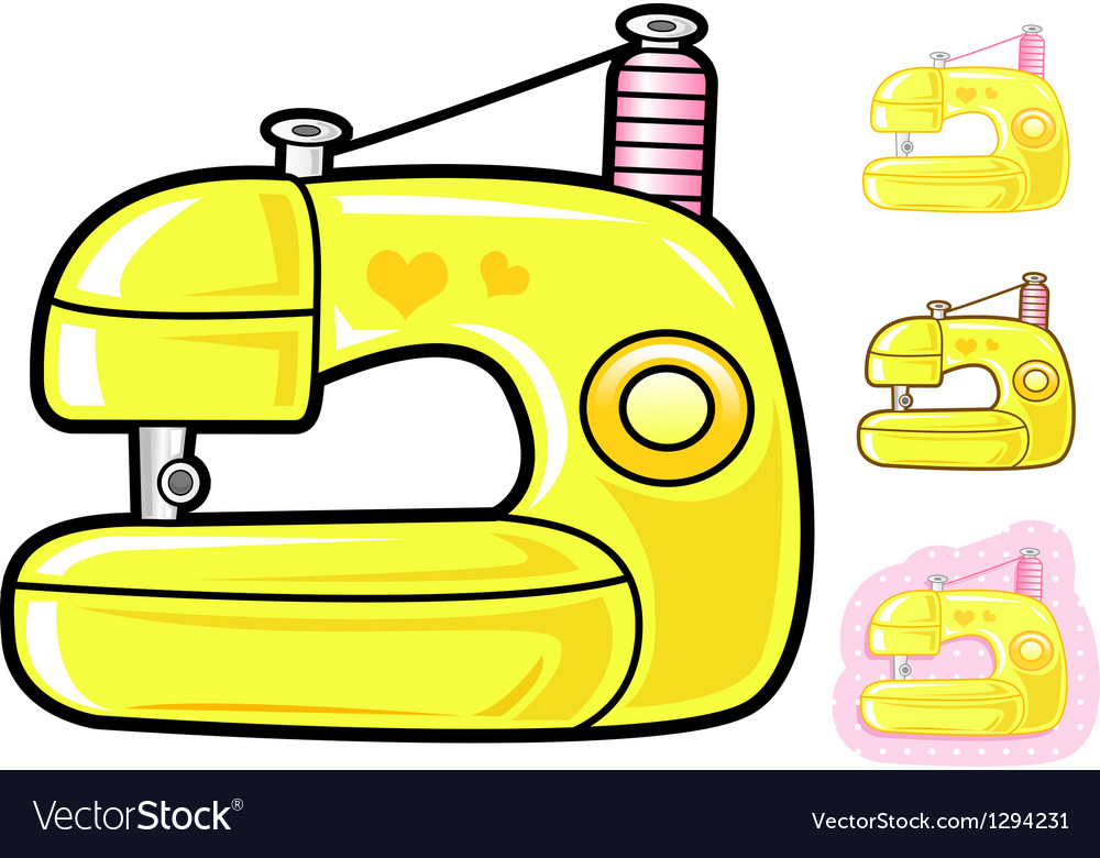 Various styles of sewing machine sets vector | Price: 1 Credit (USD $1)