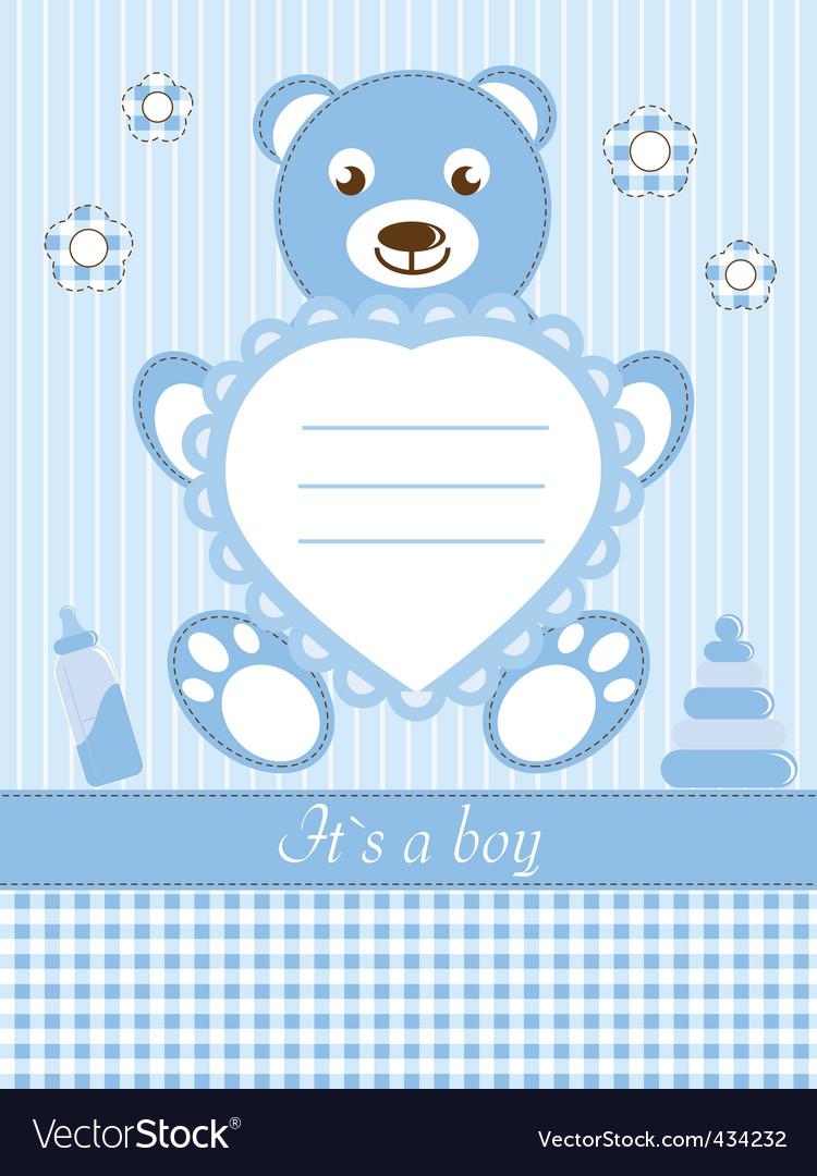 Baby boy shower invitation ca vector   Price: 1 Credit (USD $1)