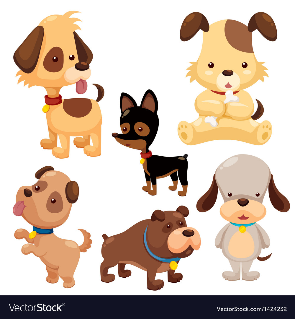 Cute dog cartoon vector | Price: 3 Credit (USD $3)